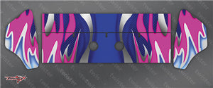 TR-K3W-MA1  Kyosho MP9 TKI3 Wing Metallochrome Wave Pattern Wrap ( Type A1 ) 6 colors