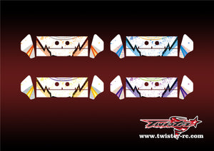 TR-K3W-MA6 Kyosho MP9 TKI3 Wing Metallochrome Wave Pattern Wrap( Type A6 )4 Colors