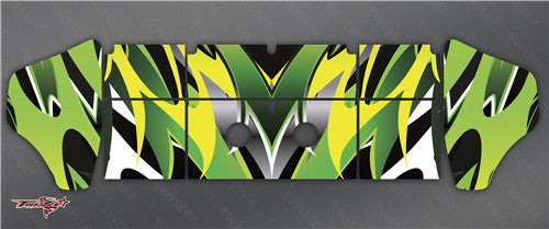 TR-K4W-MA2 Kyosho MP9 TKI4 Wing Metallochrome Wave Pattern Wrap ( Type A2 ) 4 colors