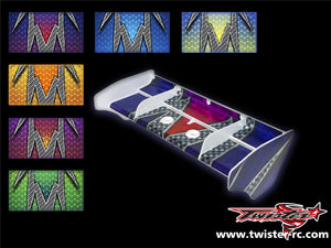 TR-K4W-MA3  Kyosho MP9 TKI4 Wing Meter Metallochrome Wave Pattern Wrap ( Type A3 ) 6 colors