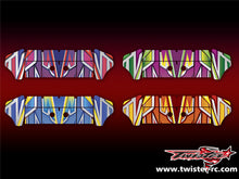 TR-K4W-MA4 Kyosho MP9 TKI4 Wing Metallochrome Wave Pattern Wrap ( Type A4 ) 4color