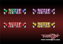 TR-K4W-MA8 Kyosho MP9 TKI4 Wing Metallochrome Wave Pattern Radio Wrap ( Type A8 ) 4colors