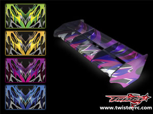 TR-M8W-MA2 Mugen MBX8 Wing Metallochrome Wave Pattern Wrap ( Type A2 ) 4 colors