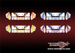 TR-M8W-MA6 Mugen MBX8 Wing Metallochrome Wave Pattern Wrap( Type A6 )4 Colors