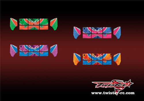 TR-M8W-MA7 Mugen MBX8 Wing Metallochrome Wave Pattern Radio Wrap ( Type A7 )4Colors