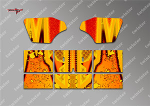 TR-M8W-MA9 Mugen MBX8 Wing Metallochrome Wave Pattern Radio Wrap ( Type A9 )4 colors