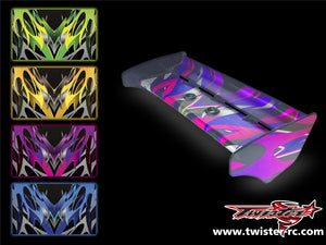 TR-K3W-MA2 Kyosho MP9 TKI3 Wing Metallochrome Wave Pattern Wrap ( Type A2 ) 4 colors