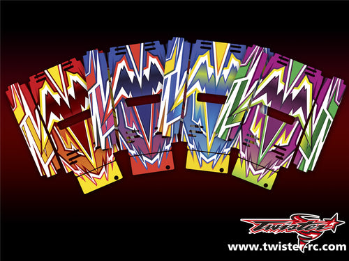 TR-MB-MA4 Mugen Off Road Starter Box Metallochrome Wave Pattern Wrap ( Type A4 ) 4color