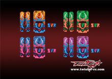 TR-MB-MA7 Mugen Off Road Starter Box Metallochrome Wave Pattern Radio Wrap ( Type A7 )4Colors