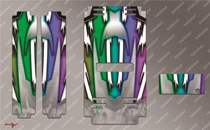 TR-MB-MA8 Mugen Off Road Starter Box Metallochrome Wave Pattern Radio Wrap ( Type A8 ) 4colors