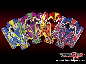 TR-MO-MA4 Mugen On Road Starter Box Metallochrome Wave Pattern Wrap ( Type A4 ) 4color