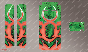 TR-MO-MA7 Mugen On Road Starter Box Metallochrome Wave Pattern Radio Wrap ( Type A7 )4Colors