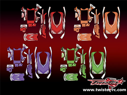 TR-MT4-MA5 Sanwa MT-4/MT-4S Metallochrome Wave Pattern Radio Wrap ( Type A5 )
