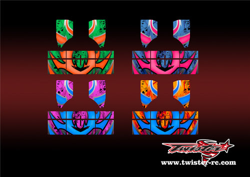 TR-NBW-MA7 Tekno NB48 2.0 Wing Metallochrome Wave Pattern Radio Wrap ( Type A7 )4Colors