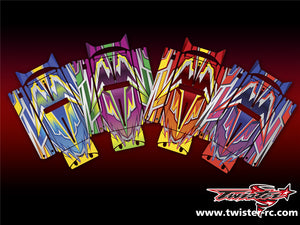 TR-QW-MA4 Q-World Starter Box Metallochrome Wave Pattern Wrap ( Type A4 ) 4color