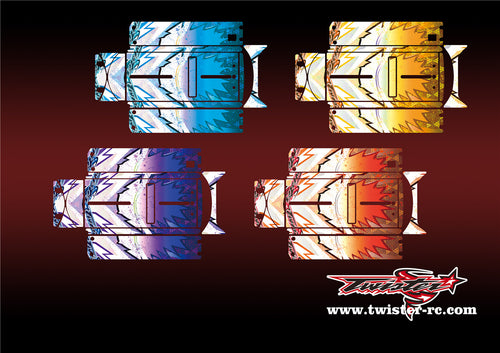 TR-QW-MA6 Q-World Starter Box Metallochrome Wave Pattern Wrap( Type A6 )4 Colors