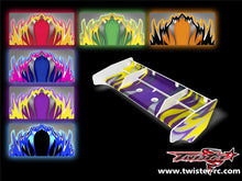 TR-S8W-MA1  Serpent SRX8 Wing Metallochrome Wave Pattern Wrap ( Type A1 ) 6 colors