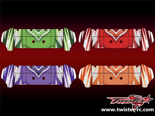 TR-S8W-MA5 Serpent SRX8 Wing Metallochrome Wave Pattern Radio Wrap ( Type A5 )