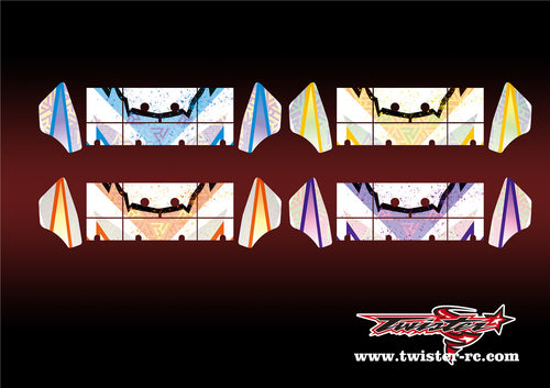 TR-S8W-MA6 Serpent SRX8 Wing Metallochrome Wave Pattern Wrap( Type A6 )4 Colors