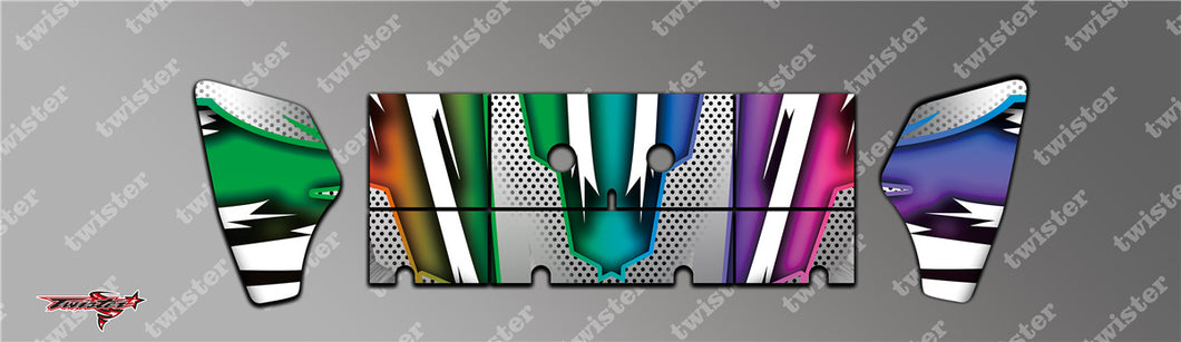 TR-S8W-MA8 Serpent SRX8 Wing Metallochrome Wave Pattern Radio Wrap ( Type A8 ) 4colors
