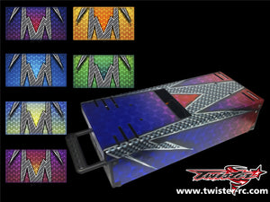 TR-TB-MA3 T-Work's Off Road Starter Box Metallochrome Wave Pattern Wrap ( Type A3 )
