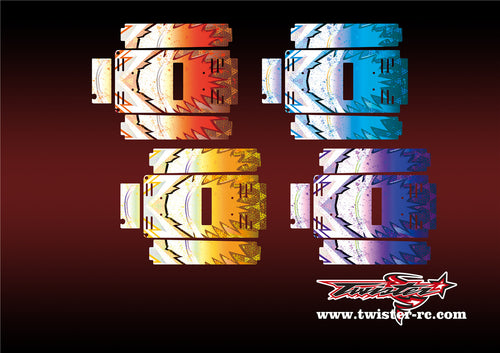 TR-TB-MA6 T-Work's Off Road Starter Box Meter Metallochrome Wave Pattern Wrap( Type A6 )4 Colors