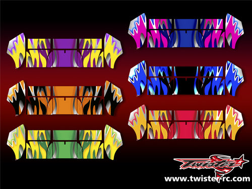 TR-TCW-MA1  Team C Wing Metallochrome Wave Pattern Wrap ( Type A1 )6 colors
