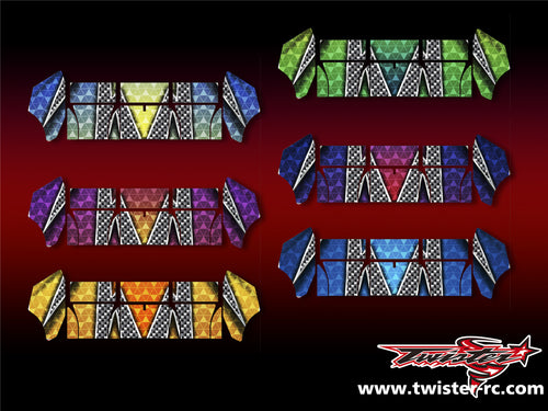 TR-TCW-MA3 Team C Wing Metallochrome Wave Pattern Wrap ( Type A3 ) 6 colors
