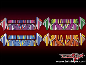 TR-TCW-MA4 Team C Wing Metallochrome Wave Pattern Wrap ( Type A4 ) 4color