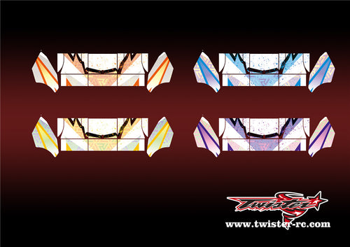 TR-TCW-MA6 Team C Wing Metallochrome Wave Pattern Wrap( Type A6 )4 Colors