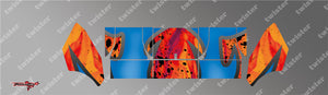 TR-TCW-MA7 Team C Wing Metallochrome Wave Pattern Radio Wrap ( Type A7 )4Colors