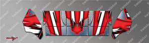 TR-TCW-MA8 Team C Wing Metallochrome Wave Pattern Radio Wrap ( Type A8 ) 4colors