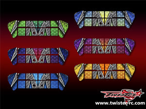 TR-X8W-MA3 Xray XB8 Wing Metallochrome Wave Pattern Wrap ( Type A3 ) 6 colors