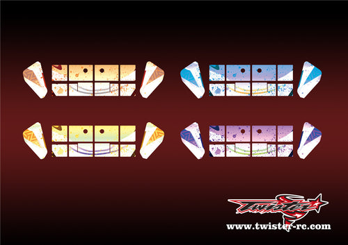 TR-X8W-MA6 Xray XB8 Wing Metallochrome Wave Pattern Wrap( Type A6 )4 Colors