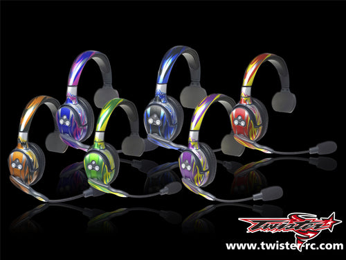 TR-EAR-MA1 Eartec Metallochrome Wave Pattern Radio Wrap ( Type A1 )6 colors 2pcs.