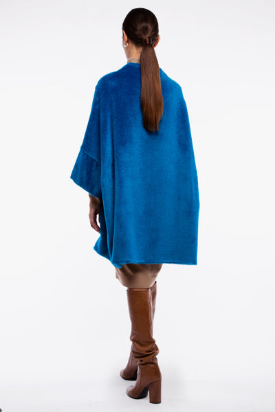 Calù • Cappotto in alpaca galaxy blu