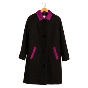 Ida fuchsia black coat • Unique piece
