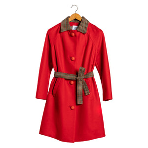 Ida pressed wool coat and belt • One piece