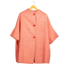 Load image into Gallery viewer, Calù coral-colored wool coat • Unique piece