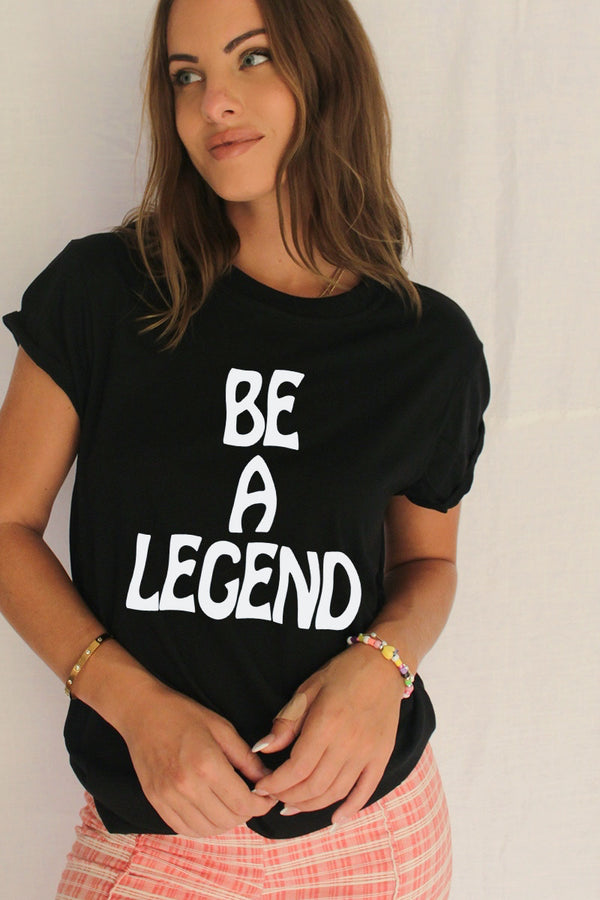 James Mae Be A Legend Black Dou Tee