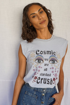 James Mae Cosmic Crush Blue Mist Moto Tee