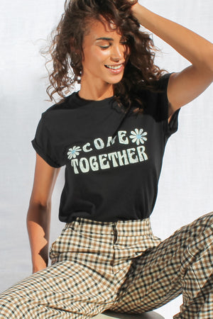 James Mae Come Together Black Dou Tee