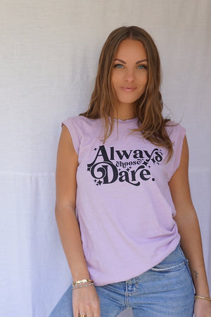 James Mae Always Choose Dare Stars Moto Tee