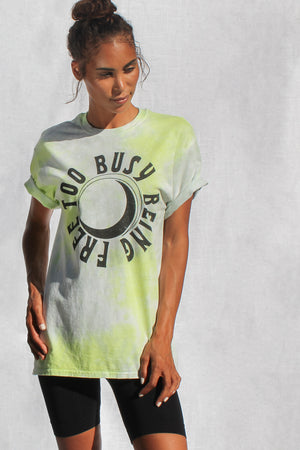 Too Busy Sun Tie Dye Oversized Tee