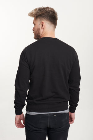 Black Recycled Pullover