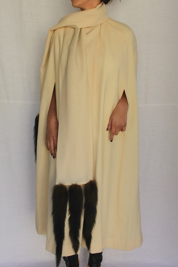 1960s Winter Cream Cape