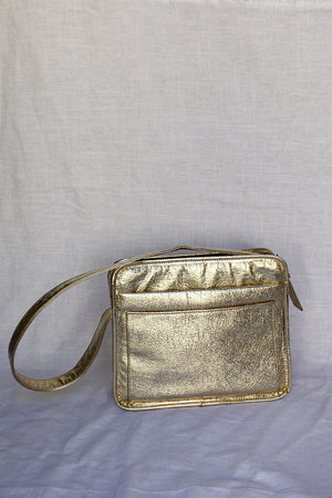 James Mae Gold Metallic Vintage Purse