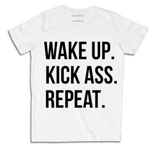 "T-Shirt Uomo ""Wake Kick Repeat"""