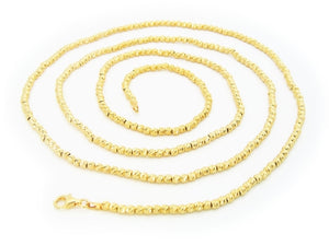 Italian Pebbles Chain Necklace Dipped in 18k Gold