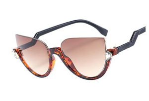 FELINI - SEMI-FRAME CATEYE SUNGLASSES